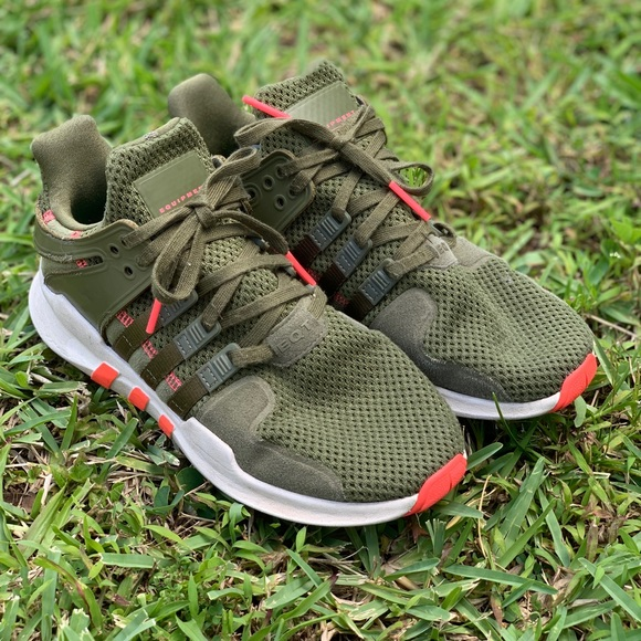 adidas Other - Adidas EQT - Olive green and coral